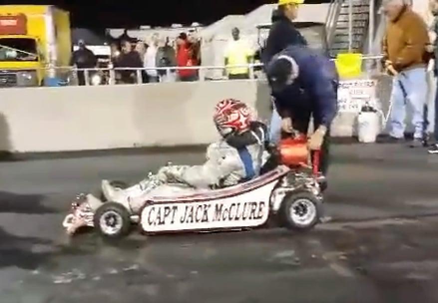 video  captain jack mcclure and his famous rocket go kart