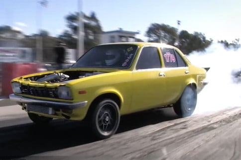 Video: 8-Second Rotary-Powered Holden Rips It Up On A TINY Tire