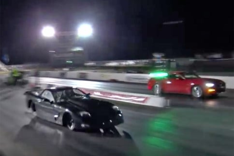 Video: Roll Racing In A Tube Chassis Nitrous Huffing 'Vette!