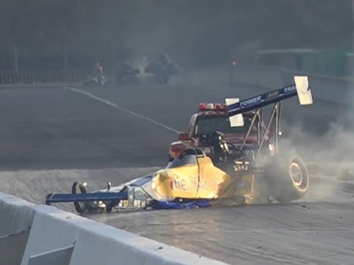 Video: Australian Peter Xiberras Wild Top Fuel Dragster Crash