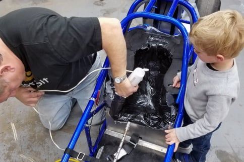 Even In Jr. Dragsters, Molded Form Fit Seats Improve Safety