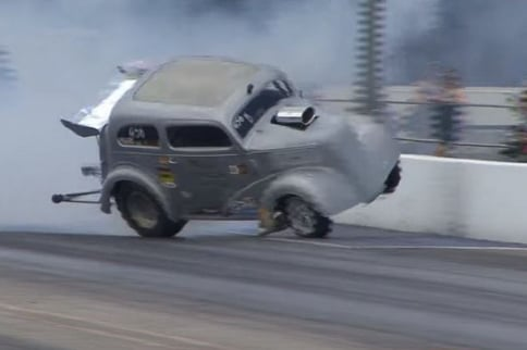 Video: Anglia Gasser Nearly Jumps The Wall At Tulsa Raceway Park!