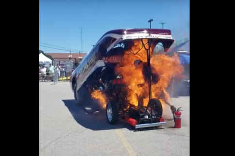 Video: Man Escapes Terrifying Goodguys Funny Car Fire