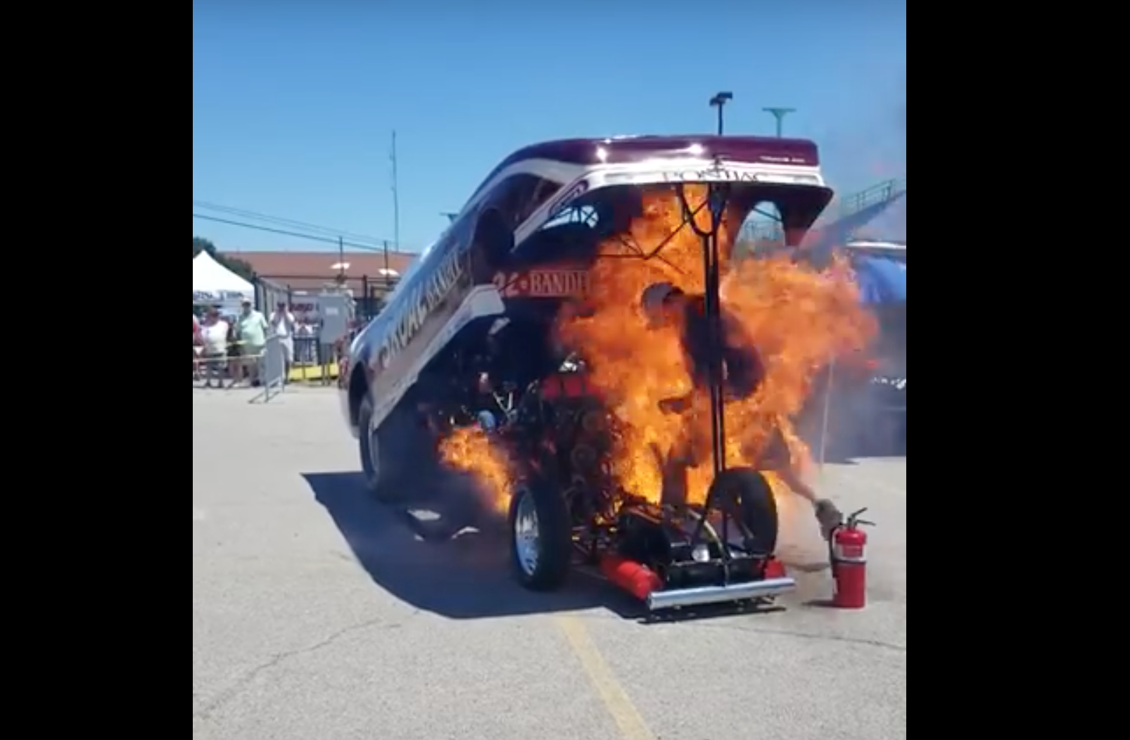 Video Man Escapes Injury In Terrifying Goodguys Funny Car Fire - Good guys motors