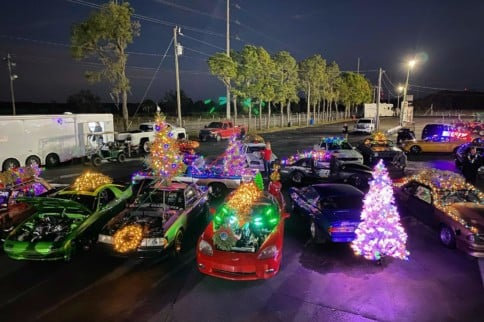 Cleetus McFarland Hosts Epic Christmas-Themed Drag Race