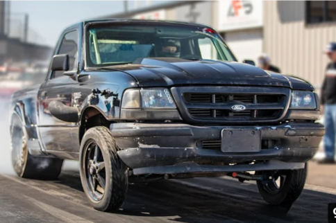VIDEO: Jay Lee Stuffed A 600HP 6BT Cummins Into A Drag Ford Ranger!