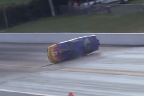 VIDEO: Pro Stock Racer Endures Rollover, Manages To Hit Nothing